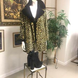 Vintage Faux Fur Cheetah Print Coat